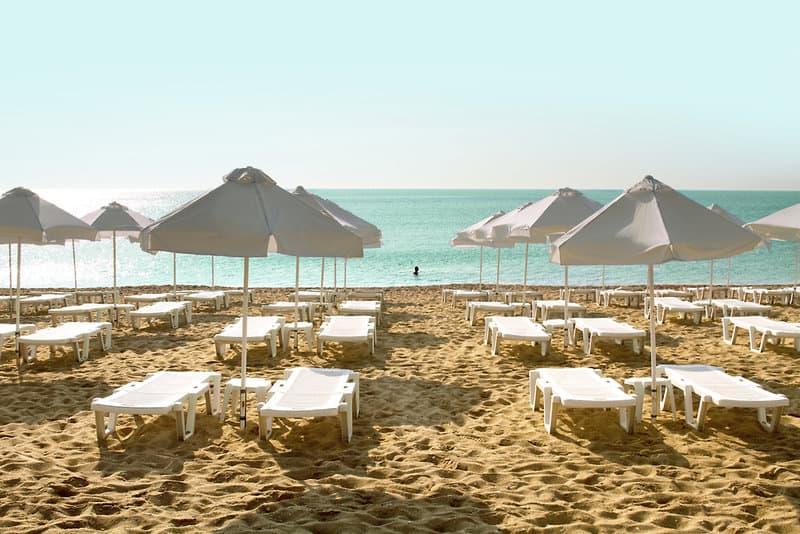 SENTIDO Marea Goldstrand Urlaub in Varna - Strandabschnitt vom 4,5 Sterne Hotel