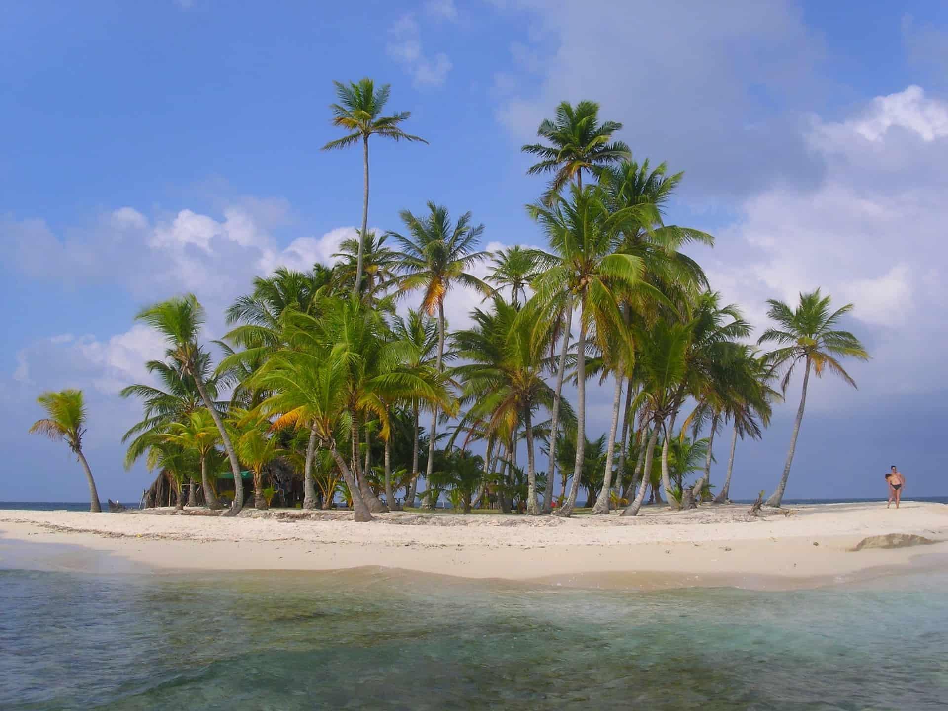 San Blas Island über 200 solcher vorgelagerte Inseln gibt es in Panama City
