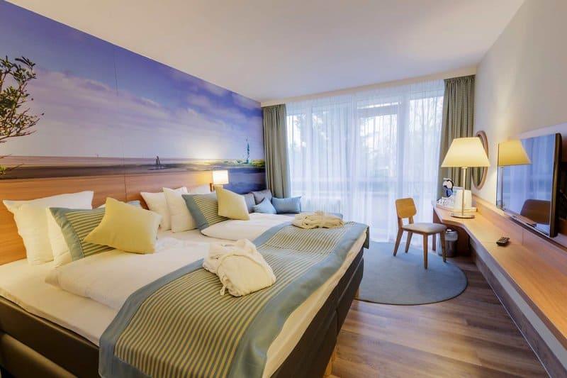 Schlafzimmer im Ferienhaus Beispiel - Center Parcs Nordseeküste
