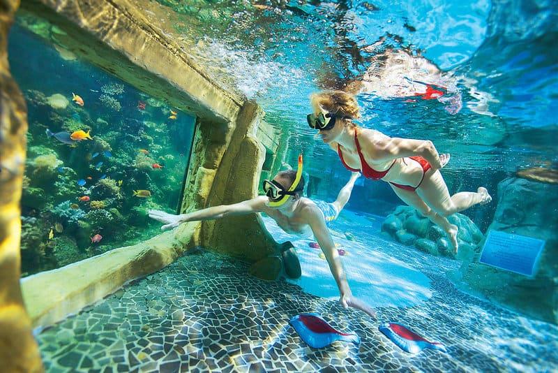 Schorcheln im Aqua Mundu es gibt auch eine Tauchschule fpür Anfänger und Fortgeschrittene