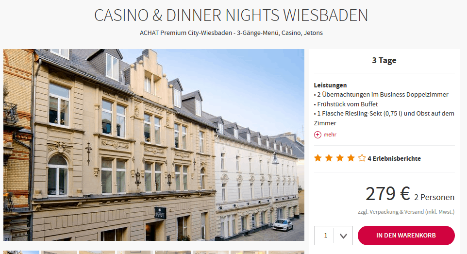 Screenshot Deal Casino Wiesbaden - Städtereisen mal anders ab 139,50€