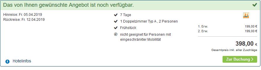 Screenshot Deal Center Parcs Zandvoort ab 199,00€ die Woche p.P Niederlande