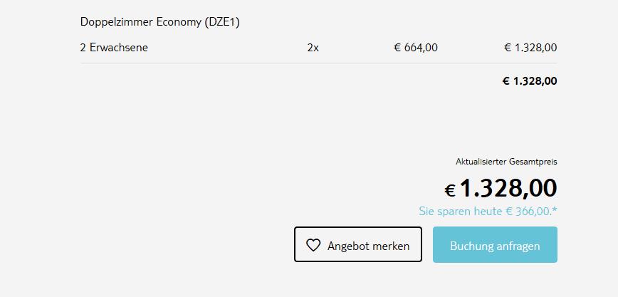 Screenshot Deal Club Calabria TUI MAGIC LIFE übernimmt - 100,00€ Rabatt