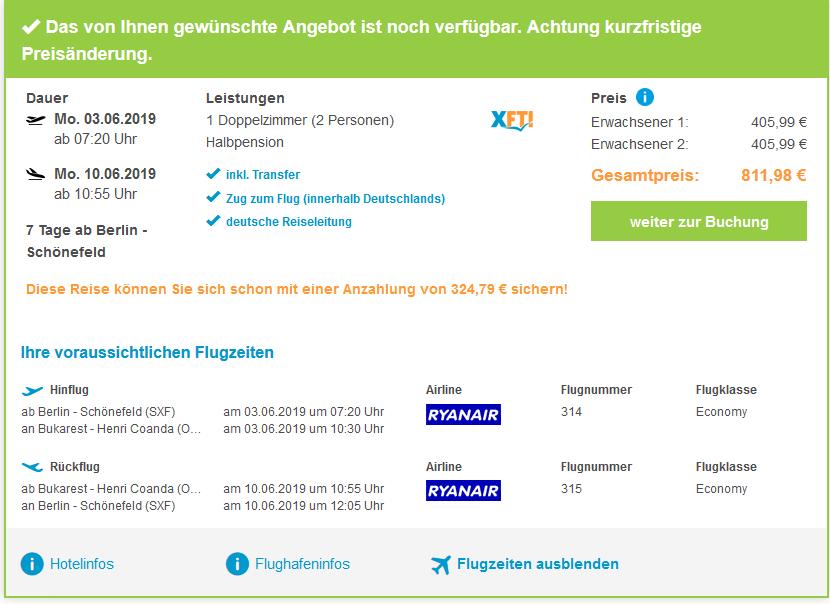 Screenshot Deal Dracula Rundreise ab 405,99€ Transsilvanien Urlaub
