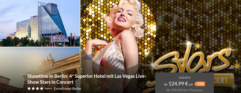 Screenshot Deal Las Vegas Live Shows 3 Tage Berlin mal anders ab 124,99€