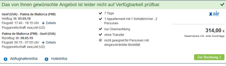 Screenshot Deal Mallorca Kracher 4 Sterne Flug & Hotel ab 157,00€ 1 Woche