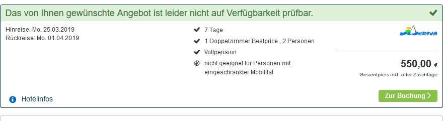 Screenshot Deal Norddalmatien Urlaub - Eine Woche Vollpension nur 275,00€ - 2 Personen