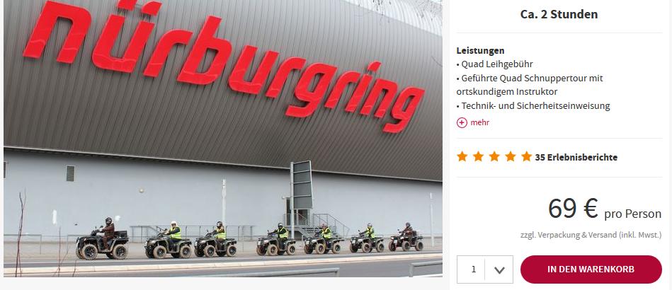 Screenshot Deal Quad Tour ab 69,00€ durch die Eifel bei Koblenz