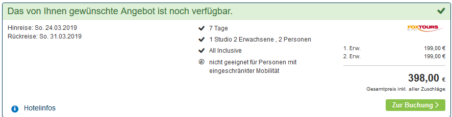 Screenshot Deal St Englmar 1 Woche All Inclusive ab 199,00€ Familienhotel Predigtsthul Resort