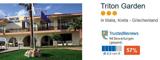 Triton Garden die günstige 3 Sterne Unterkunft als Beispiel