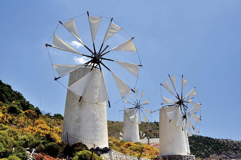 Typisch griechische Inseln Kreta ist die größte