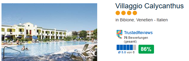Villaggio Calycanthus 4 Sterne Hotel 86%