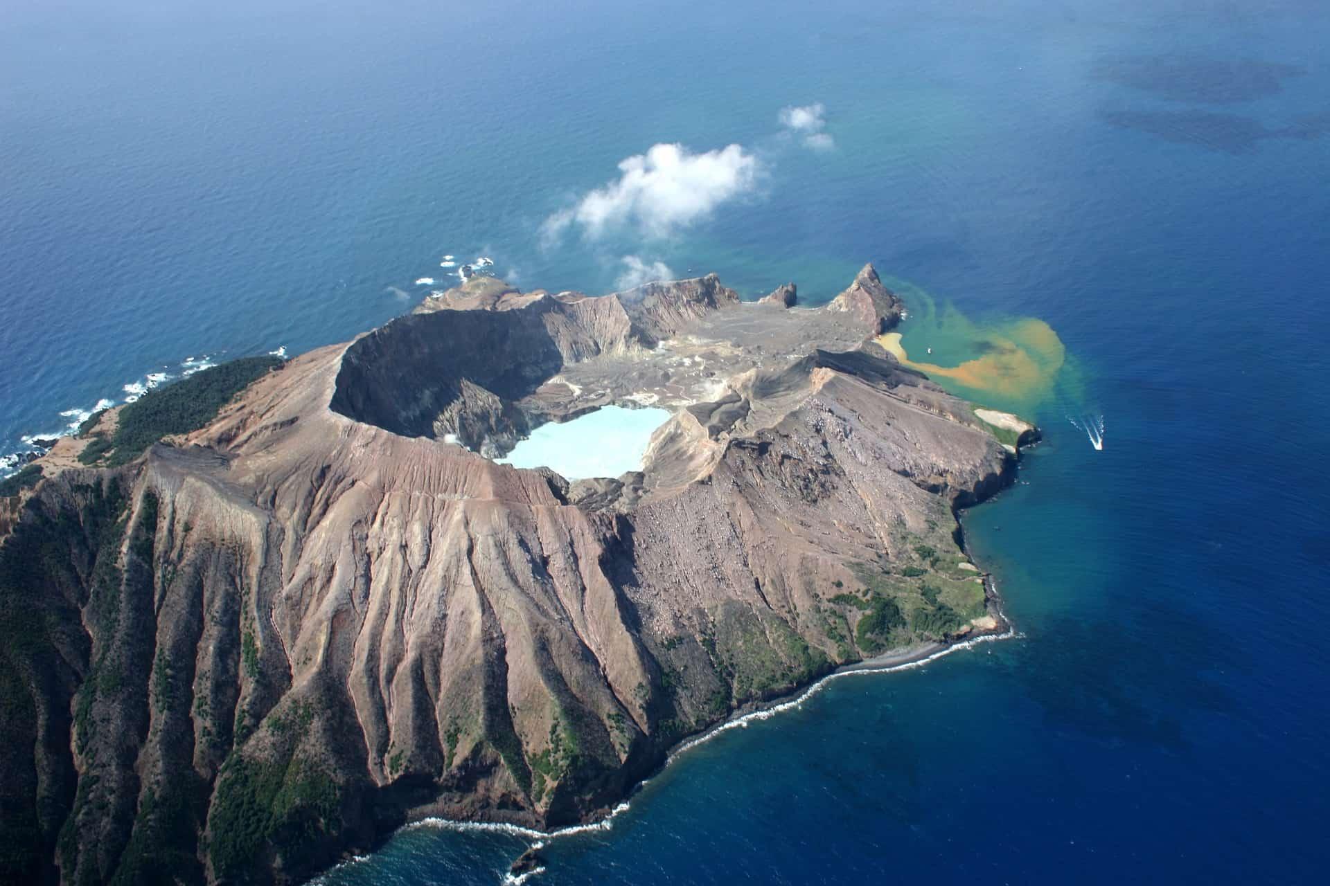 Vulkan Insel Fakari die weiße Insel