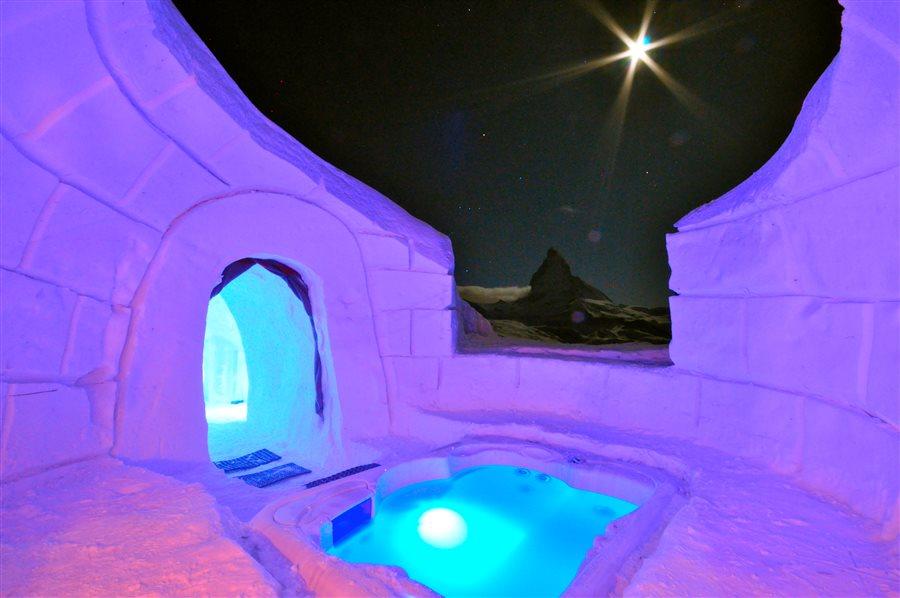 Glamping im Eis - Luxus in der Schweiz