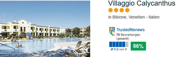 4 Sterne Hotel in Bibione das Villaggio Calycanthus - Reise mit dem Baby