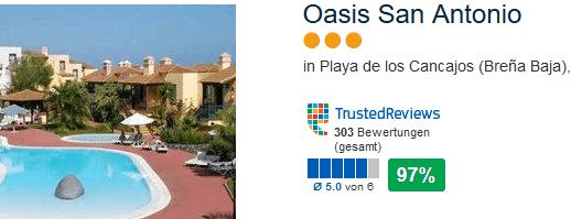 97% positive Bewertung das 3 Sterne Hotel