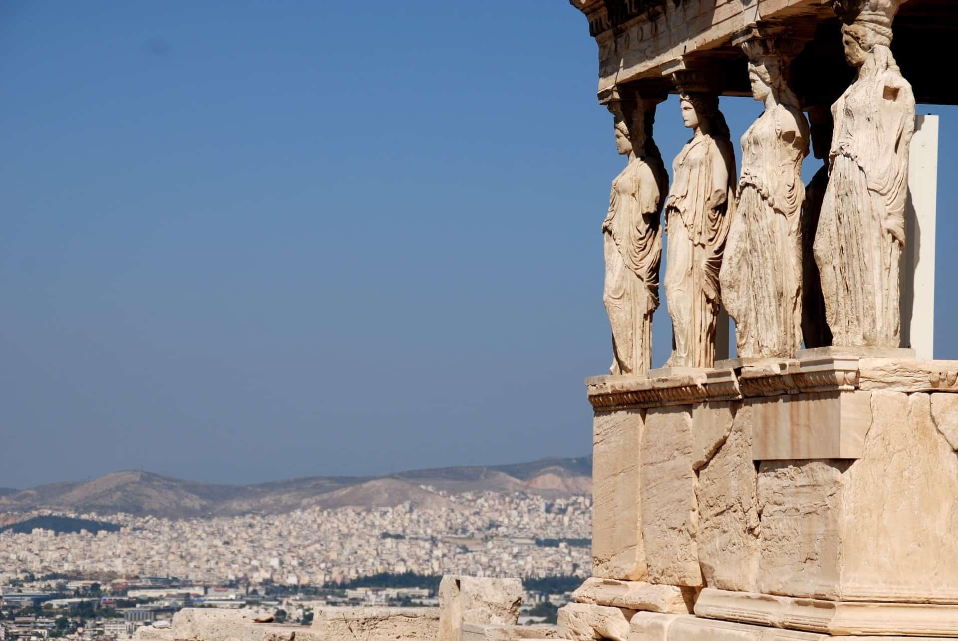 Aussischt während des Athen Urlaub am Akropolis
