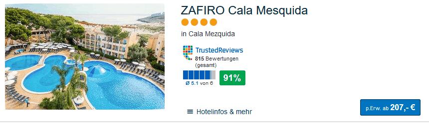 Empfehlung Familienurlaub Mallorca das ZARIFO Cala Mesquida 4 Sterne