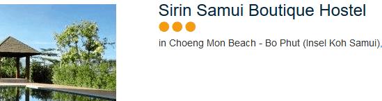 Günstigste Unterkunft zum alleine reisen in Koh Samui