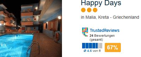 Happy Days 3 Sterne Unterkünfte auf Kreta