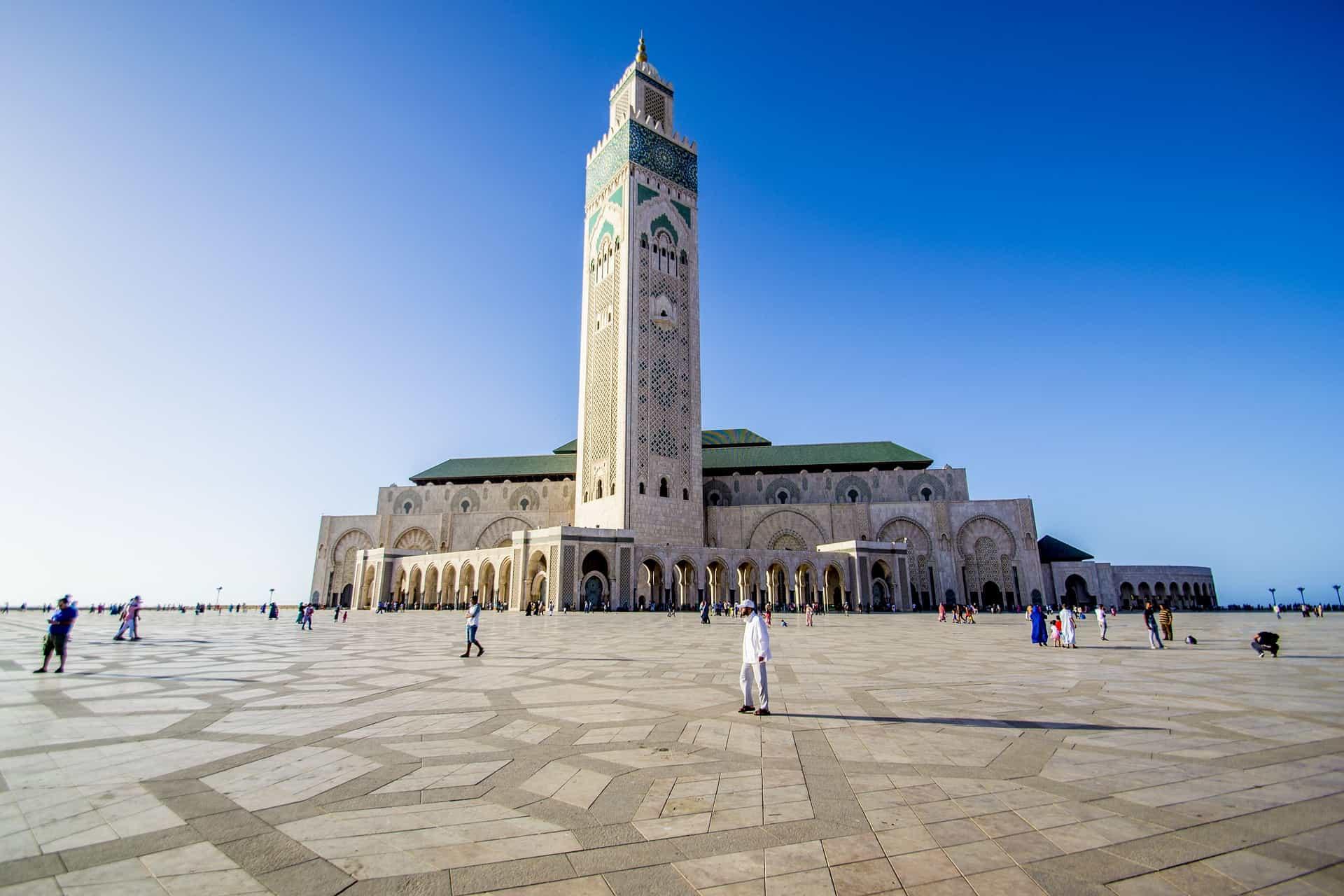 Hassan Moschee direkt am Attlantik - Casablanca Städtereise