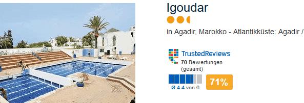 Igoudar der günstigste Tagesaktuelle Deal ab 375,64€