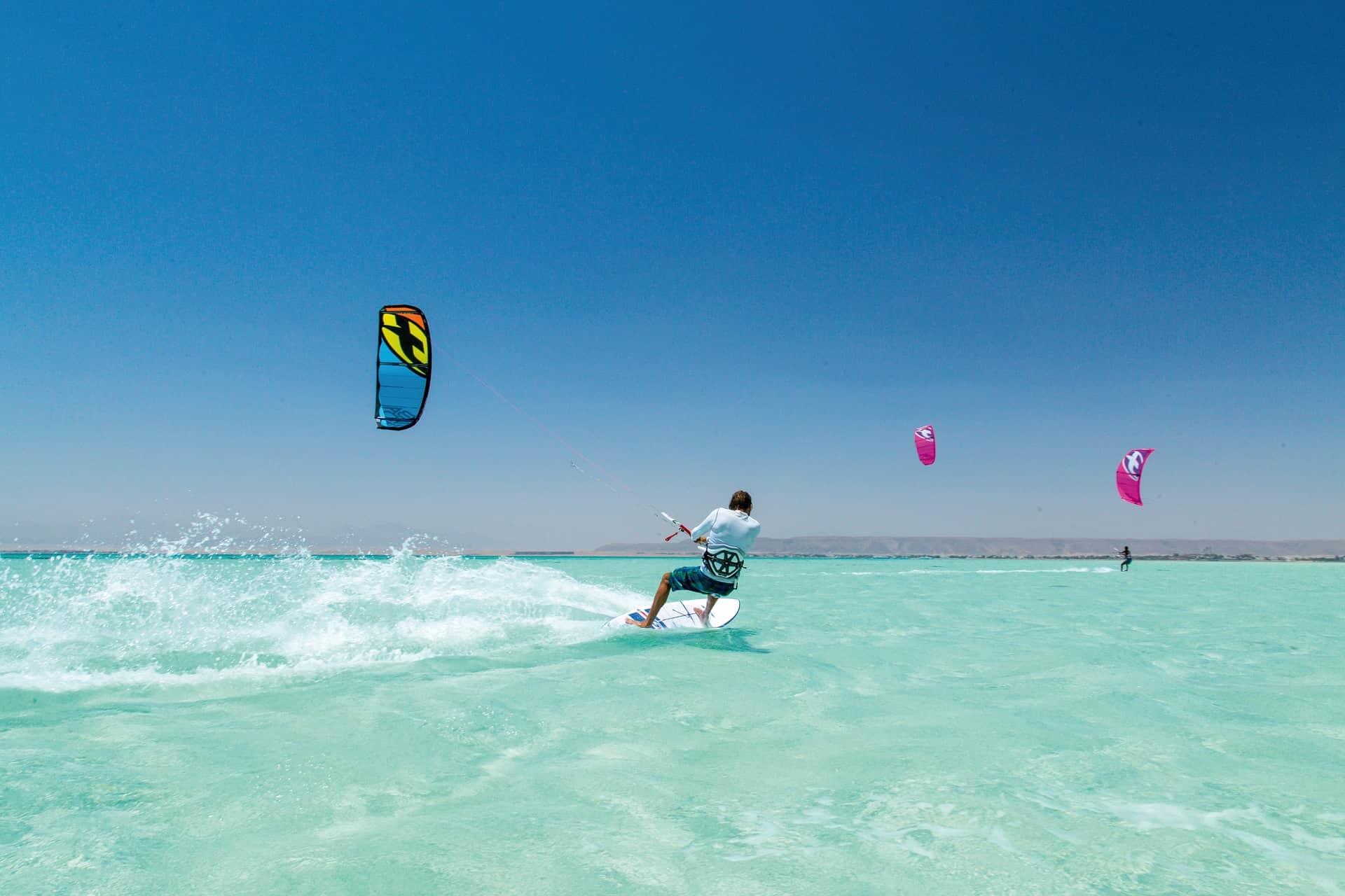 Kite Surfing im roten Meer- Urlaub Hurghada