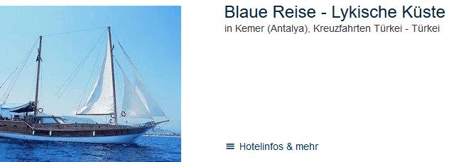 Kreuzfahrt Antalya - Blaue Reise