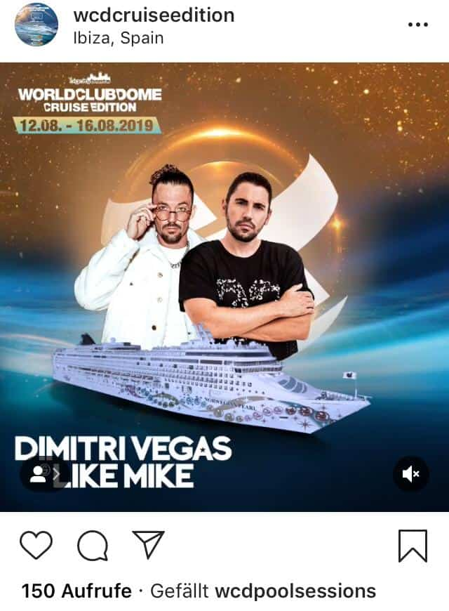 Line Up World Club Dome -Cruise Edition Screenshot Instagram