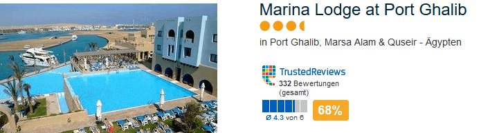 Marina Lodge at Port Ghalib 4 Sterne Hotel