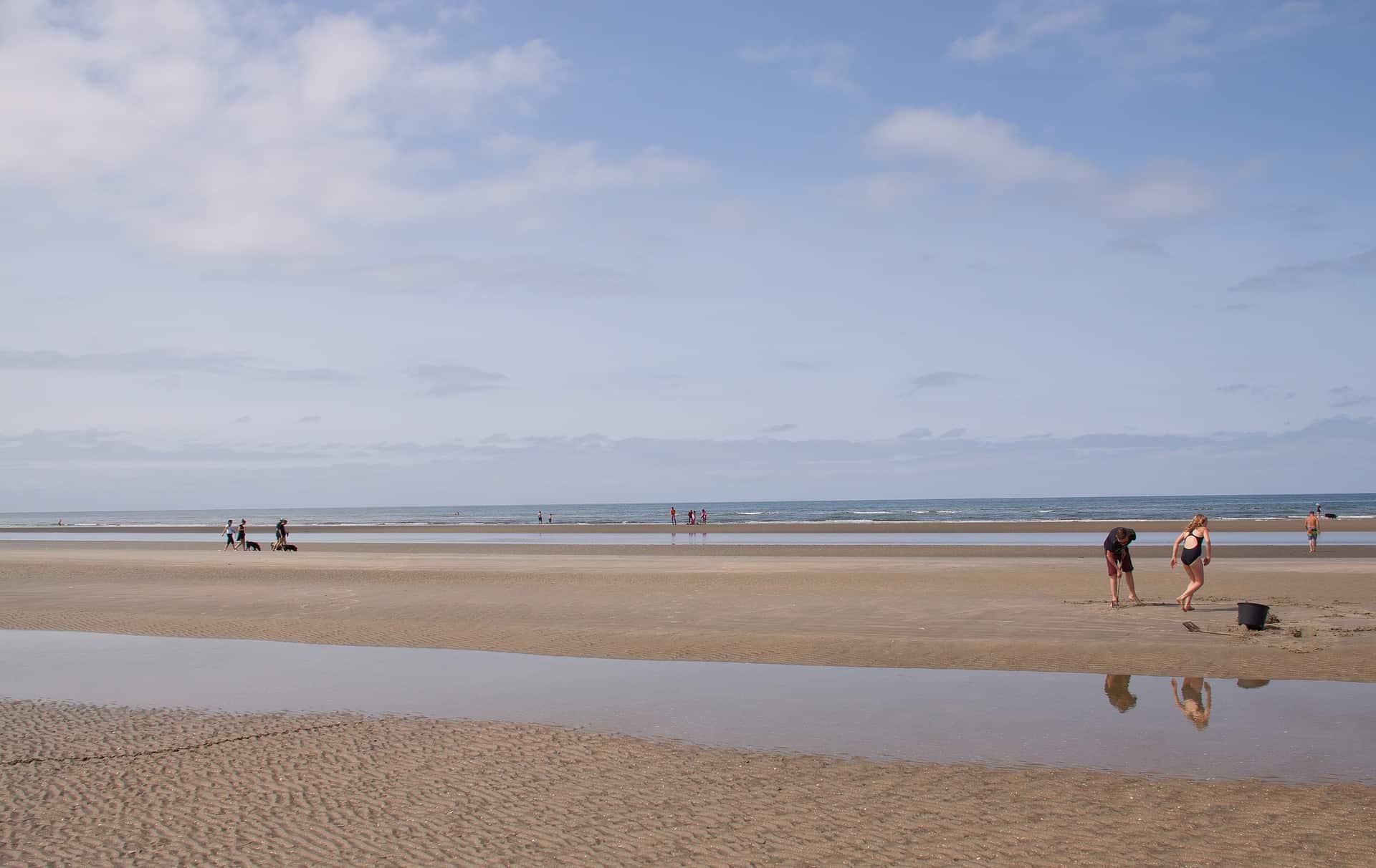 Romo der breite Sandstrand im Süden Dänemarks