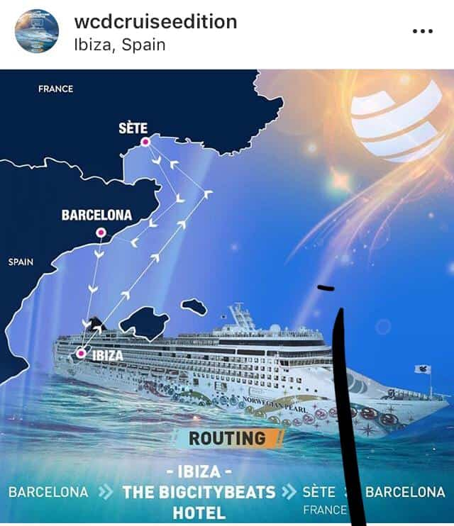 Route des World Club Cruise -Screenshot Instagram