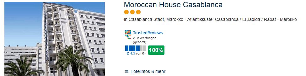 Moroccan House Casablanca 3 Sterne Hotel Städtereisen