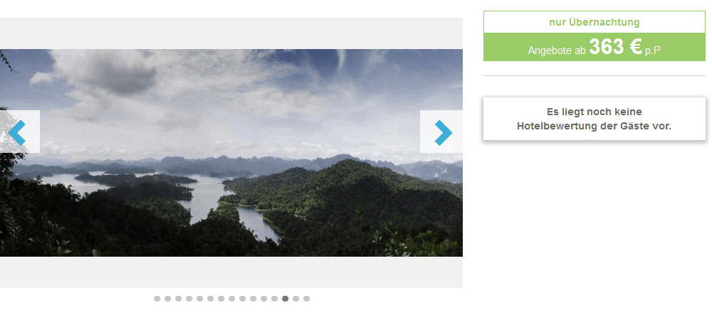 Screenshot Deal Elephant Hills Camp - Khao Lak ab 363,00€