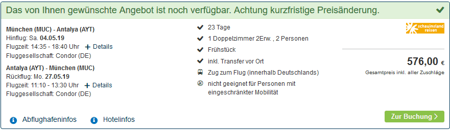 Screenshot Deal Langzeiturlaub Türkei - nur 273,00€ 23 Tage türkische Ägäis