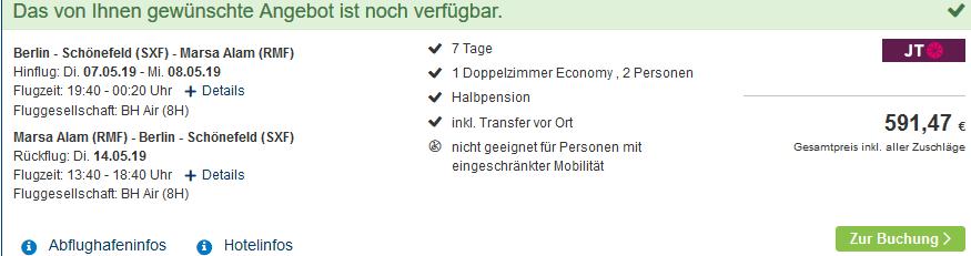 Screenshot Deal Marsa Alam & El Quseir Urlaub ab 296,00€
