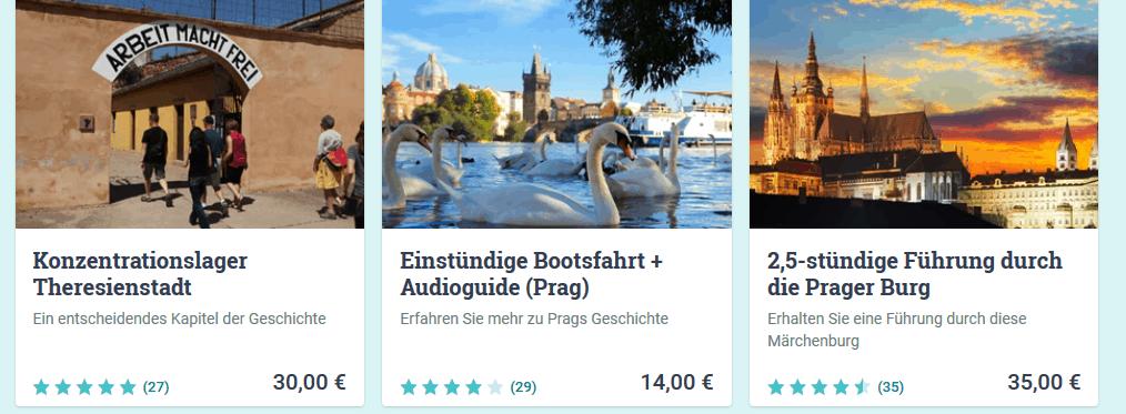 Screenshot Deal Prag Sehenswüridgkeiten erleben - Städtereisen Touren & Tickets