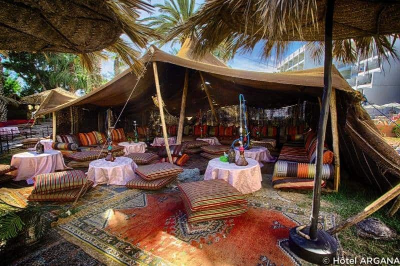 Shisha rauchen im Argana Hotel an der Atlantikküste in Agadir
