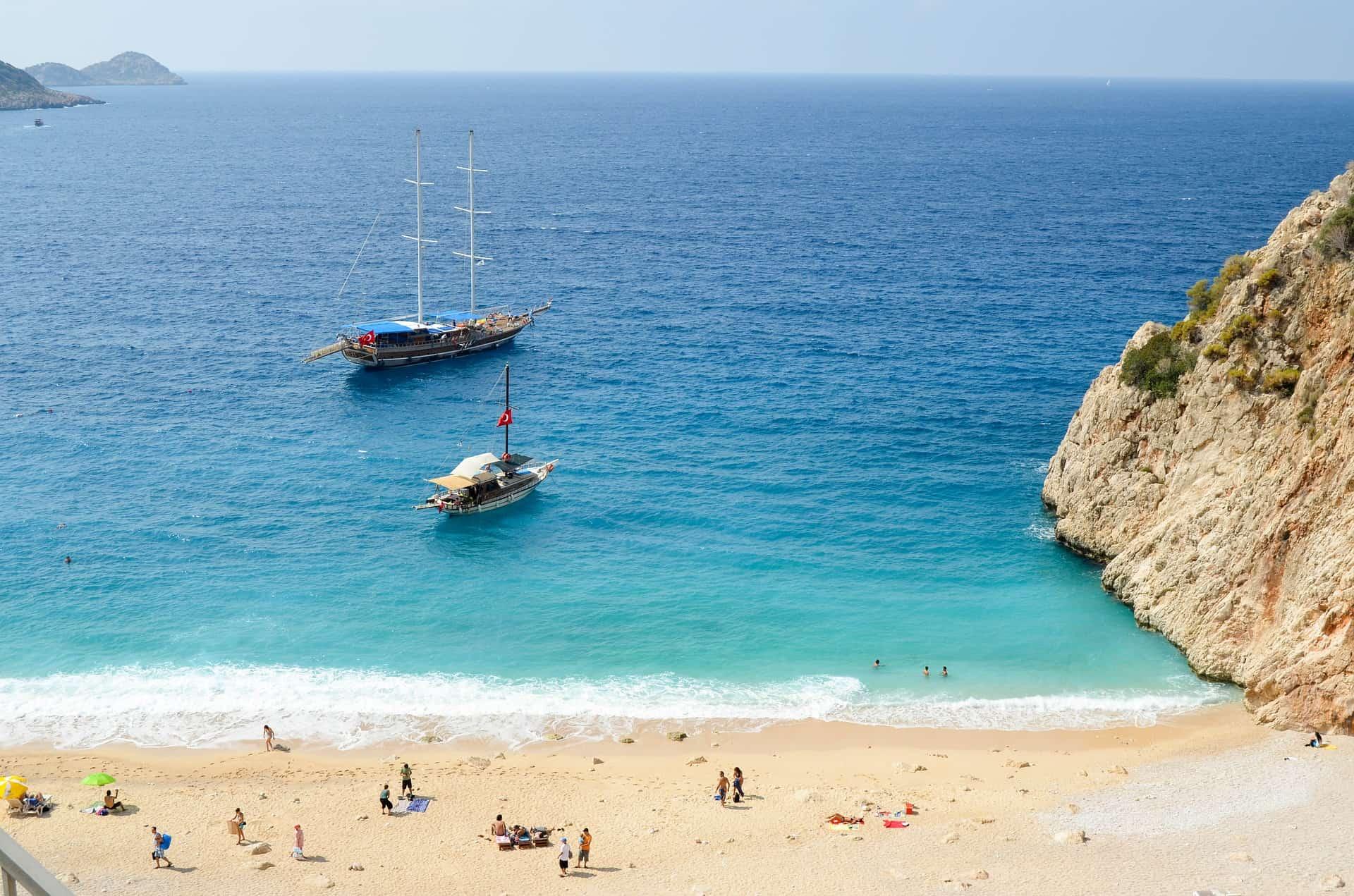 Strand Kaputas - in dieser Bucht macht Ihr während der Kreuzfahrt halt