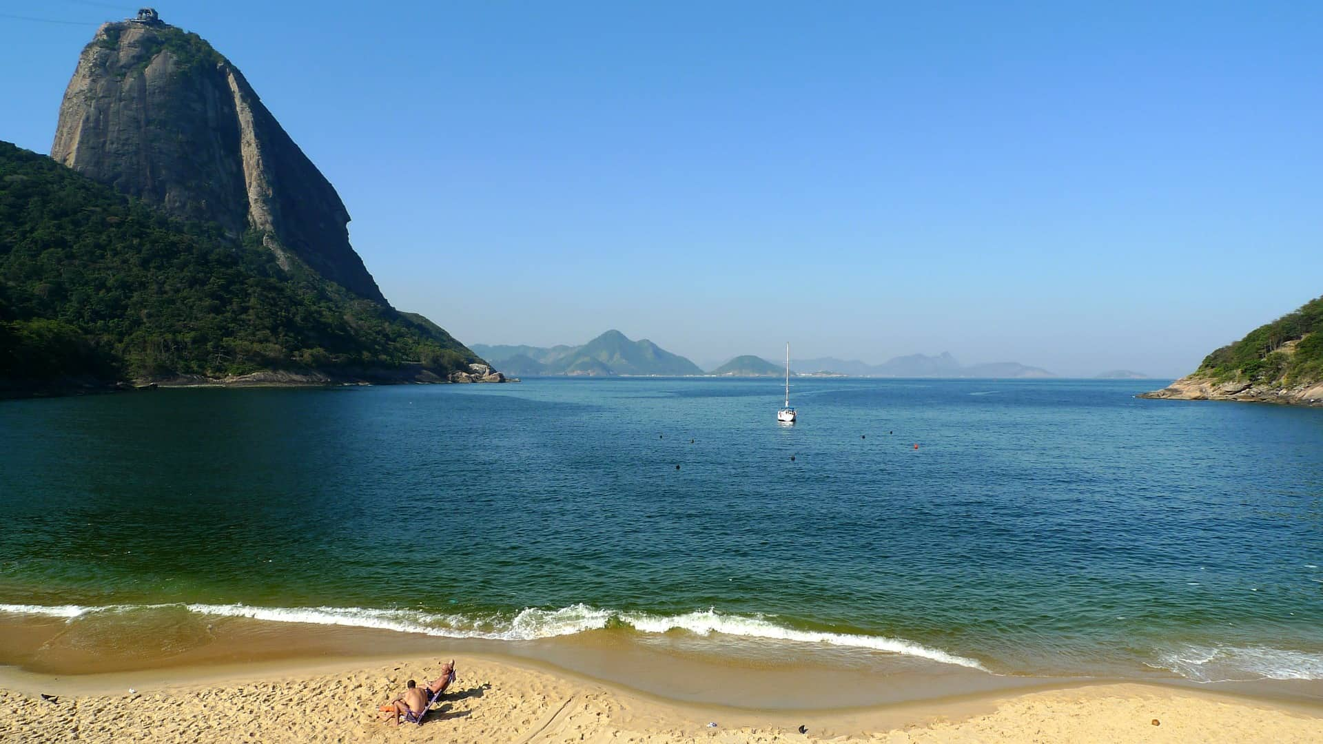 Strand in Rio de Janeiro am Zuckerhut