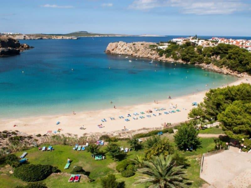 Strandabschnitt am günstigsten Menorca Hotel direkt am Meer