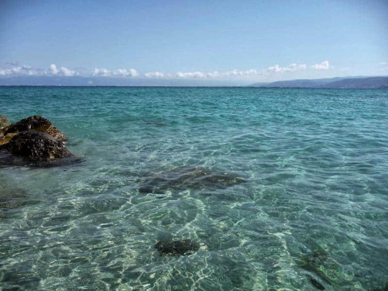 Strandabschnitt im Baia Di Trainiti 3 Sterne Hotel Roullete Urlaub