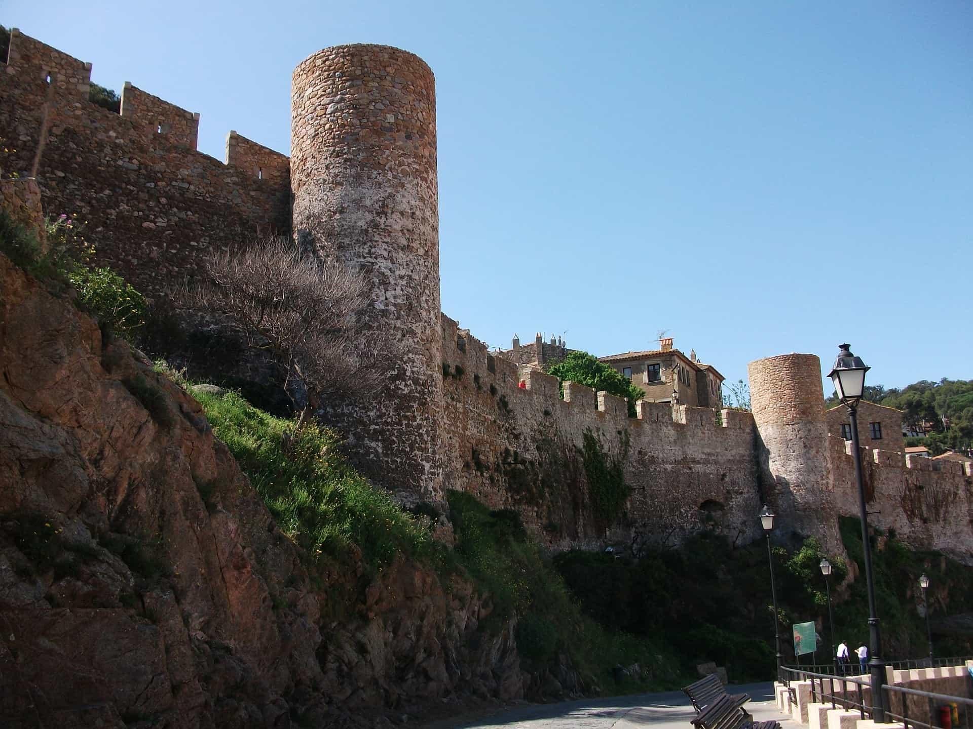 Tossa de Mar in der Stadt eine Burg erhalten aus dem frühen Mittelalter