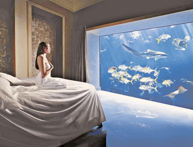 Unterwasser Hotel Zimmer The Palm - Glückshotel