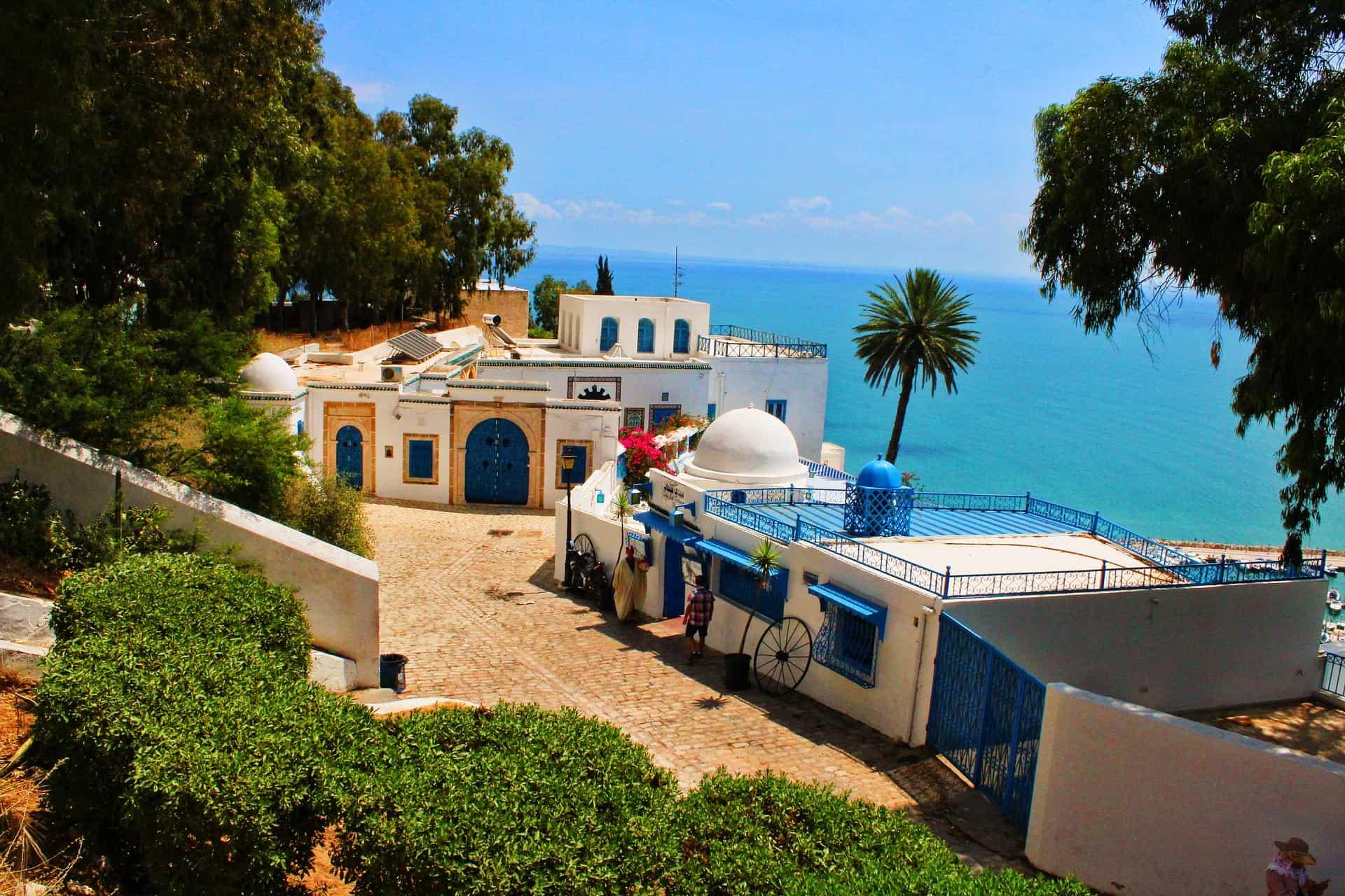 Weißblaue Stadt Sidi Bou Said Ferien in Tunesien