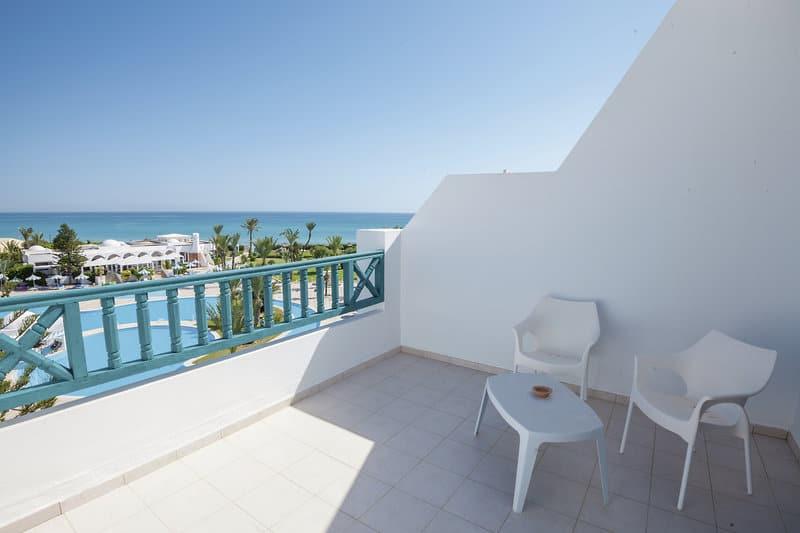 Zimmer mit Balkon Tunesien Urlaub