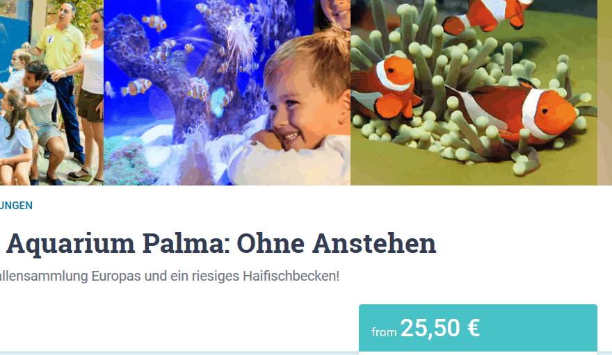 Aquarium Palama - nur 25,50€ ohne Anstehen Mallorca Deal