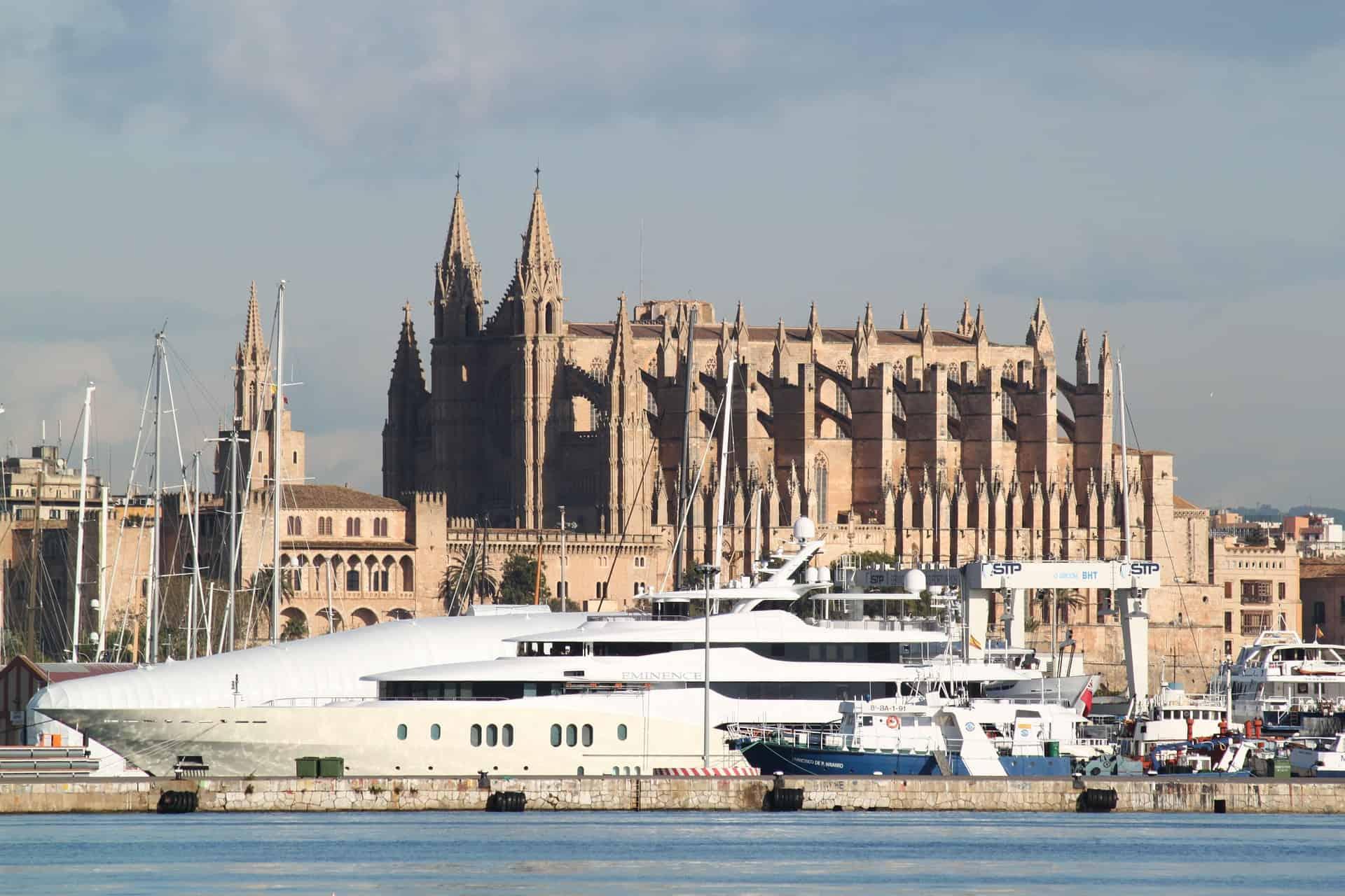 Palma de Mallorca die Hauptstadt der Balearen Gruppe