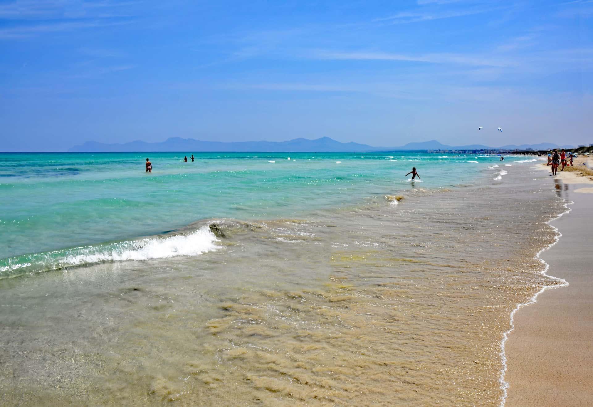 Playa de Muro die Ostküste der Insel ist für einen Badeurlaub am besten geeignet
