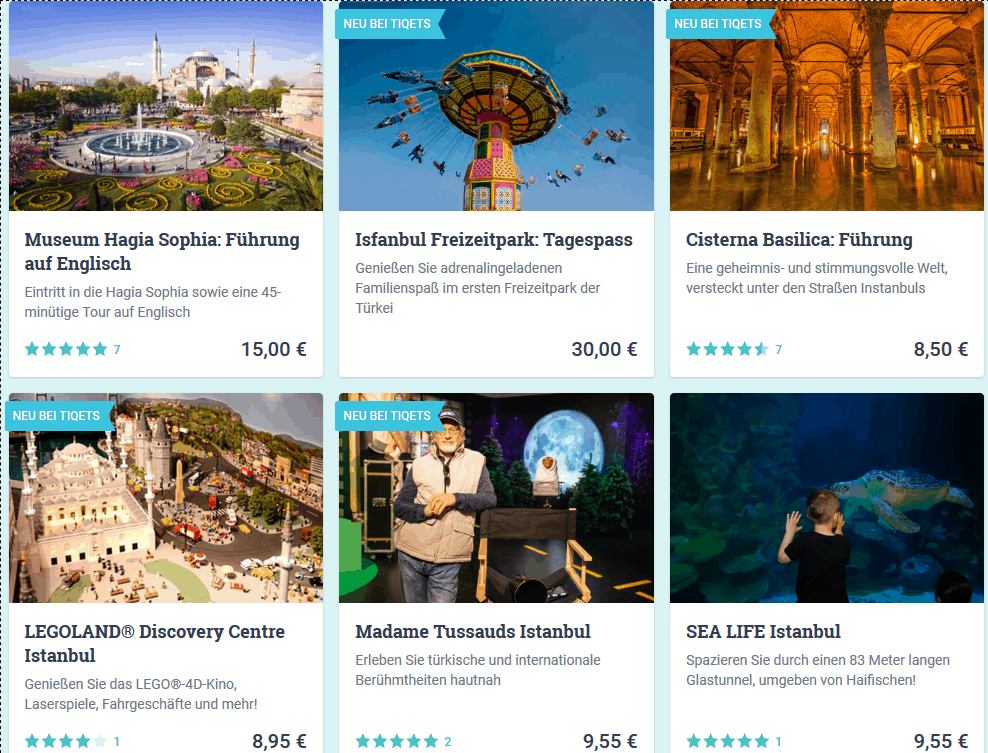 Screenshot Deal Ausflüge von Istanbul ab 8,50€ - Städtereise Tipps Türkei Urlaub